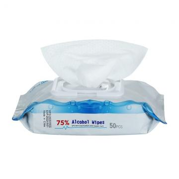 China Manufactory High Quality 60pcs Soft Nonwoven Alcohol-free Boxed Wet Wipes For Remover