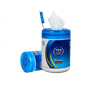 China Factory OEM Private Logo Disposable Antiseptic Wet Tissue Antibacterial Alcohol 75% Wet Wipe