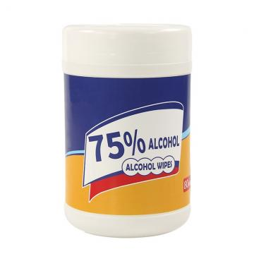 High efficient disinfectant 75% alcohol portable wet wipe for cleaning