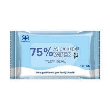 75 Alcohol Wipes 10 Pieces Disinfection Wipes Chlorine Sterilization Disposable Cleansing Wipes