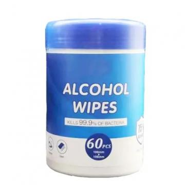 China Factory Disposable Ipa Medical Antibacterial Wet Alcohol Wipes in Canister
