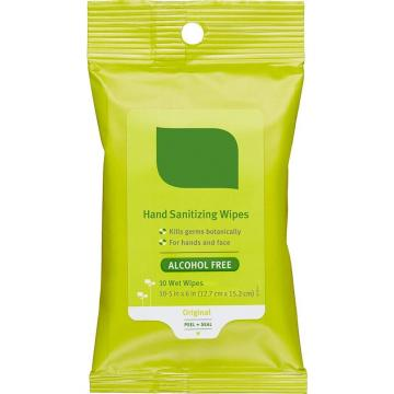 10PCS Antiseptic Biodegradable Hand Sanitizer Antibacterial Disinfectant 75% Alcohol Wet Wipes