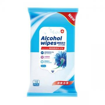 Antiseptic Biodegradable Hand Sanitizer Antibacterial Disinfectant 75% Alcohol Wet Wipes