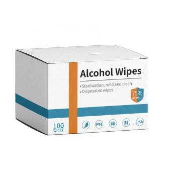 """ECO finest Clean Wipes 70% Isopropyl Alcohol Wipes in Canister - Large 5"""" x 8.5"""" - 100 pcs Wipes"""