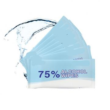 100 pieces/barrel 75% disposable non-woven alcohol wipes 99% wet alcohol sanitary wipes with alcohol