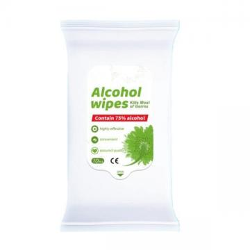 Antibacterial Sanitizer Quick Disenfecting Wet Wipes Alcoholic Anti Bacterial Sanitizing 75% Alcohol Hand Wipes by Aluminum Bag Packaging