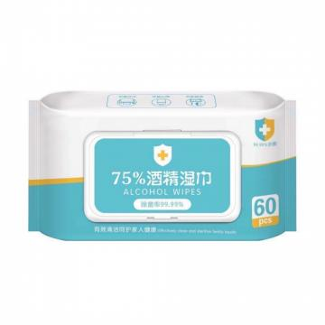 75% alcoholic cleaning antiseptic sterilized wet wipes disinfection wet wipes