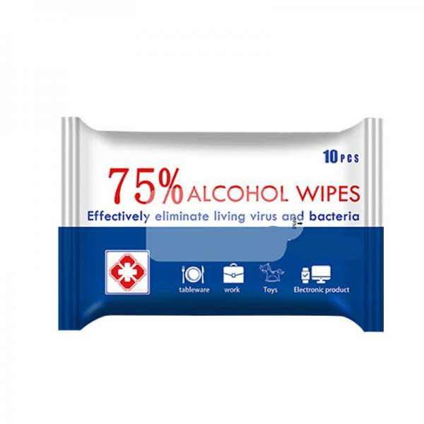 Mini Canister 75% Alcohol Disinfection Wipes for Personal
