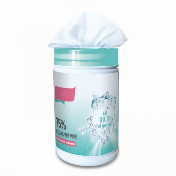 OEM wholesale disinfection alcohol hand sanitizing wipes hot sale non woven fabric for wet wipes