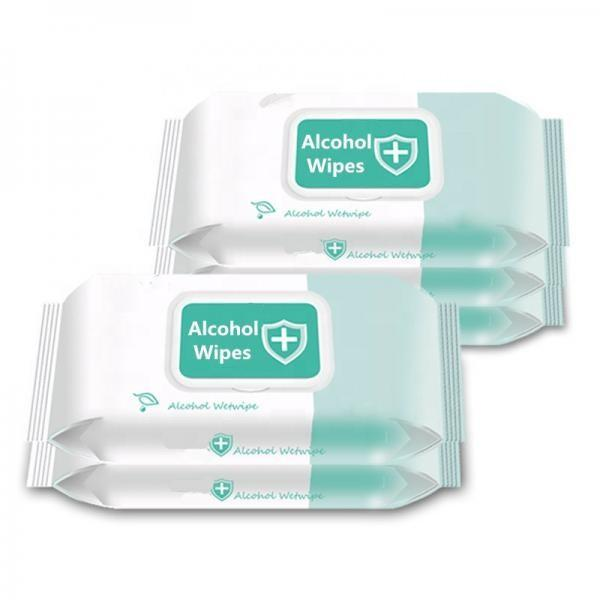 China OEM Private Label Soft Cleansing Spunlace Non-Woven Anti Bacteria Wet Disposable Alcohol Wipe